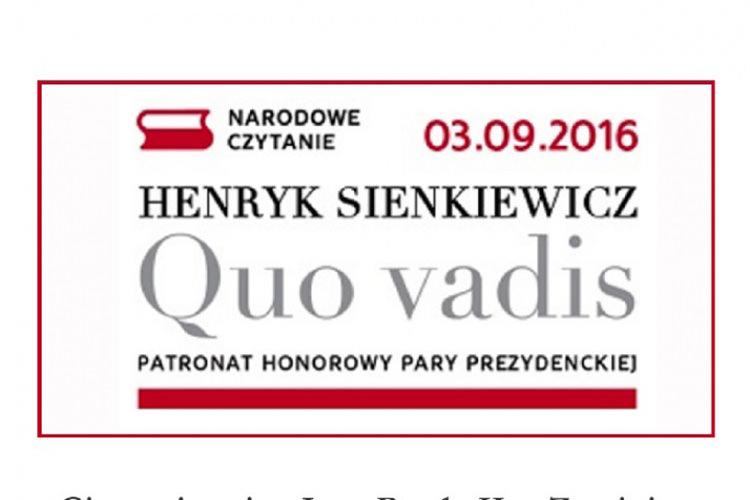 Gimnazjum W Zręcinie Zaprasza Na Narodowe Czytanie Quo Vadis